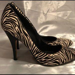 "Enzo Angiolini 4.5"" Zebra Print Heels"